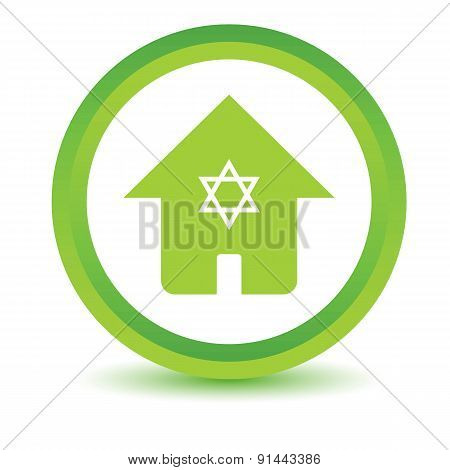 Jewish house volumetric icon