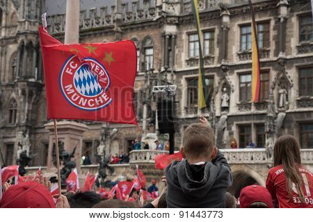 FC Bayern celebration for winning Bundesliga title