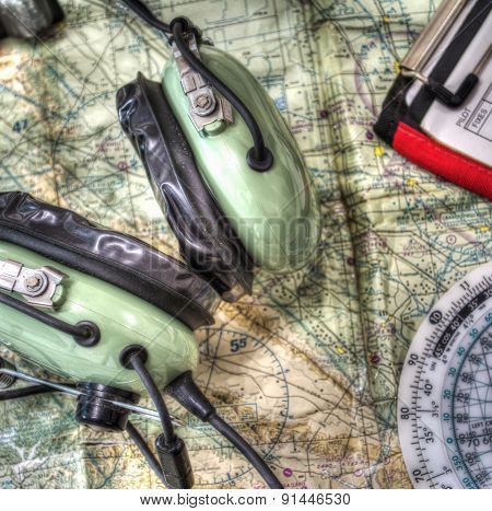 Close Up Of Pilot Tools In Hdr