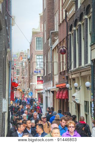Narrow Street Of Amsterdam