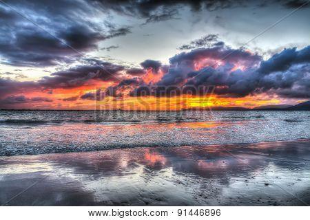Cloudy Sunset Over Alghero Shore