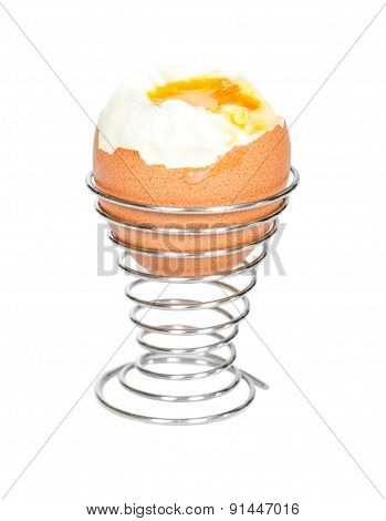Boiled Egg In Metal Stands