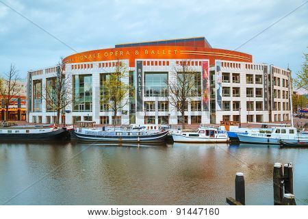 Nationale Opera And Ballet Building In Amsterdam