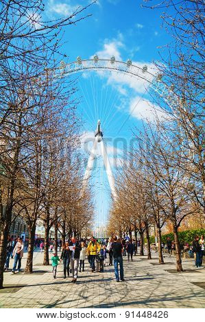 The London Eye Ferris Wheel