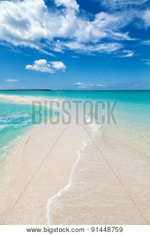 Paradise Beach On An Island In Philippines