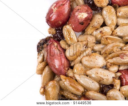 Candied peanuts sunflower seeds.