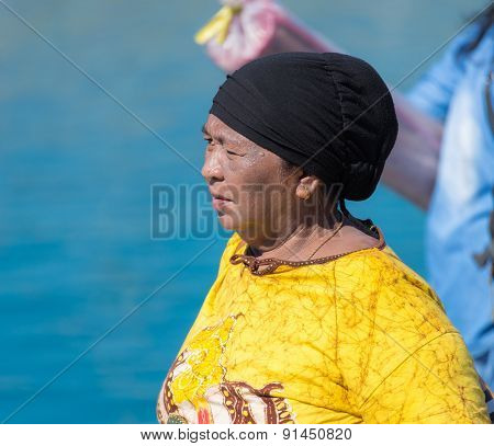 Local Woman Of Togean Ethnicity
