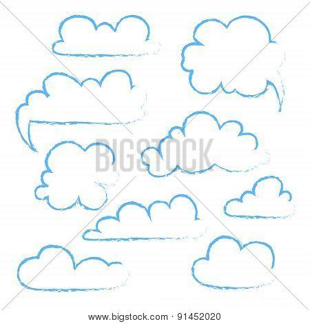 Set Of Speech  Bubble. Cloud