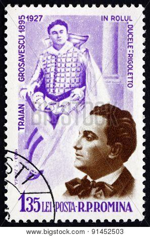 Postage Stamp Romania 1964 Traian Grozavescu, Operatic Tenor
