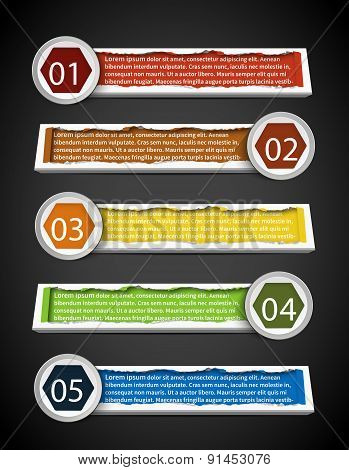 Colorful Stylish Infographic Banner Template Design Set, Create By Vector