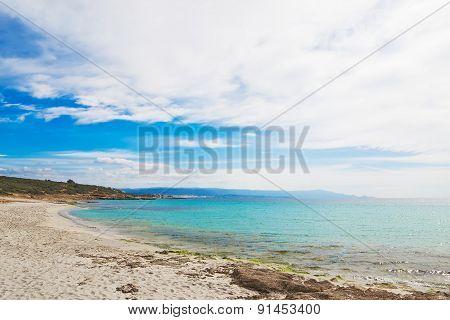 Le Bombarde Beach Under A Cloudy Sky In Springtime