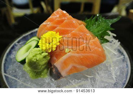 Salmon Sashimi , Japanese Food Style