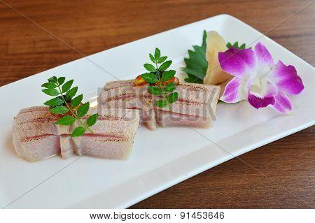 Nigiri Sushi Grilled Otoro (maguro)