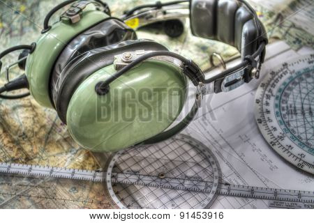 Pilot Headset And Other Tools In Hdr