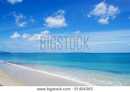 Cloudy Sky Over Fiume Santo Beach