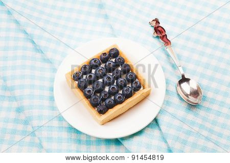 Tartlet with fresh blueberries