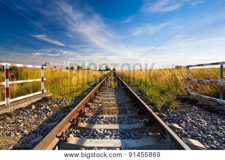 Evening On The Railway Track