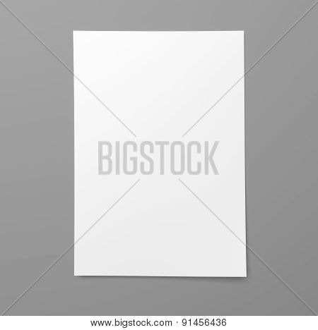 Blank Empty Sheet Of White Paper