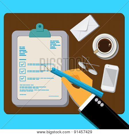 customer, feedback, concept, flat design vector illustration
