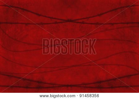 Grungy red background with wires crossing; concept of danger or threat