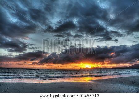 Scenic Sunset Over Alghero Foreshore