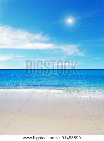 Fiume Santo Beach On A Sunny Day