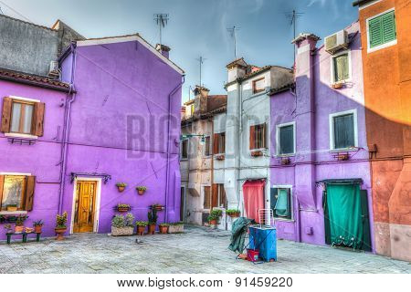 Small Square In Burano