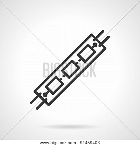 LED black line vector icon