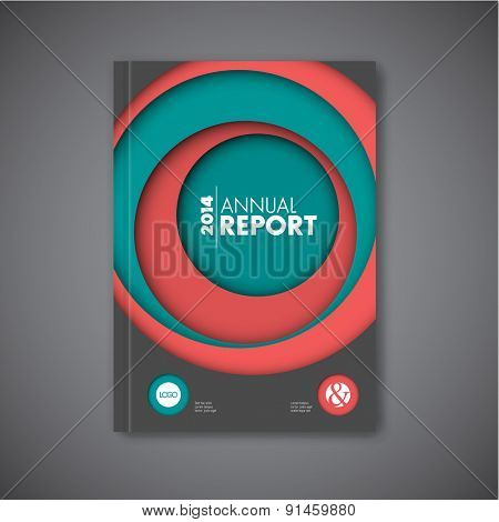 Modern Vector abstract brochure / book / flyer design template with circles
