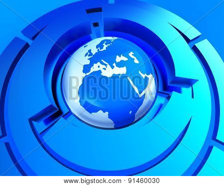 Worldwide Globe Represents Web Site And Earth