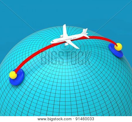 Worldwide Travel Means Globally Flights And Global