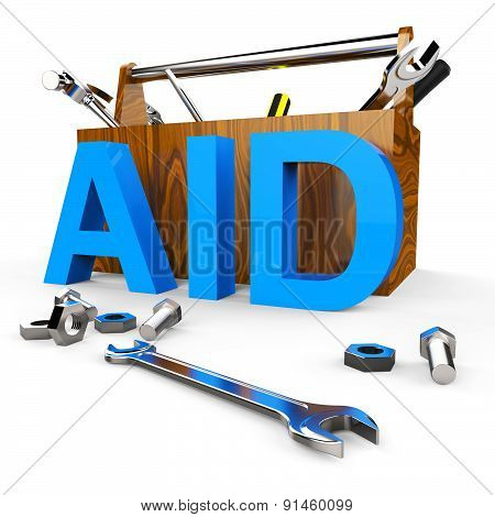 Aid Word Shows Assist Aiding And Donations