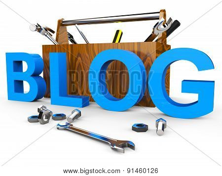 Blog Tools Means World Wide Web And Blogger
