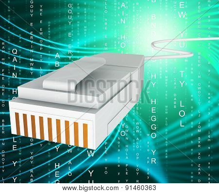 Internet Connection Means World Wide Web And Computing