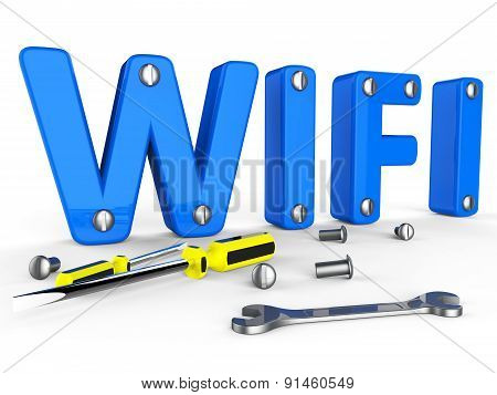 Wifi Tools Represents World Wide Web And Access