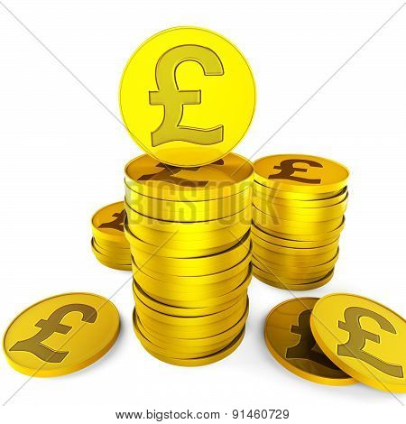 Pound Savings Indicates British Pounds And Cash