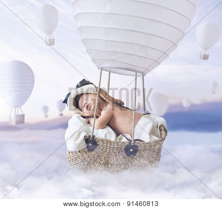 Fantasy image of a newborn child