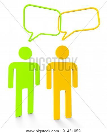 People Communicating Shows Speaking Persons And Communication
