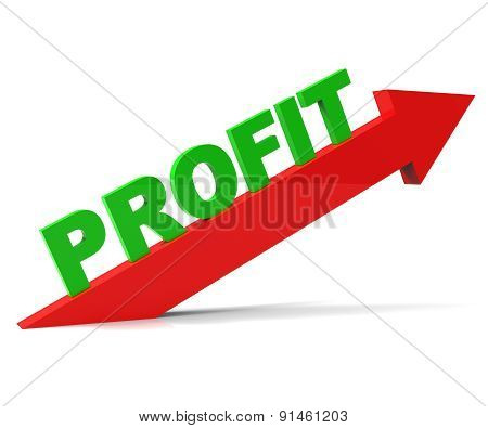 Increase Profit Means Upwards Raise And Revenue