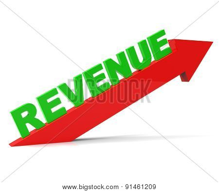 Increasing Revenue Represents Advance Earn And Improvement