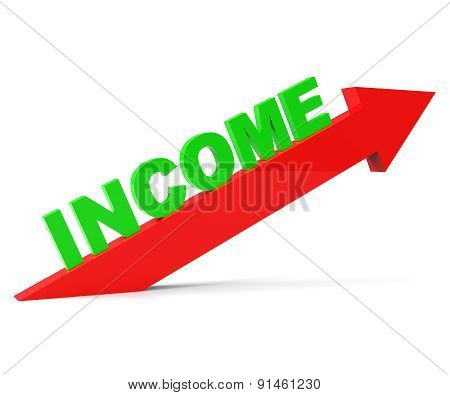 Increase Income Means Revenue Raise And Gain
