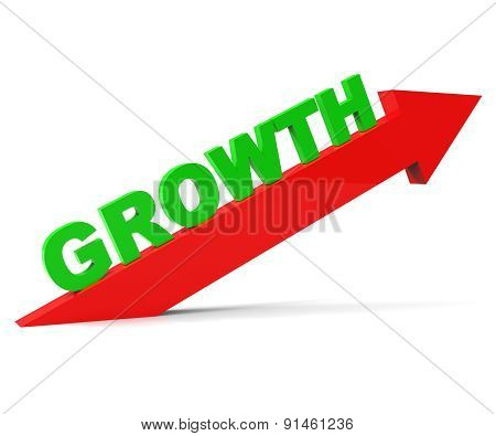 Increase Growth Indicates Rising Advance And Arrow