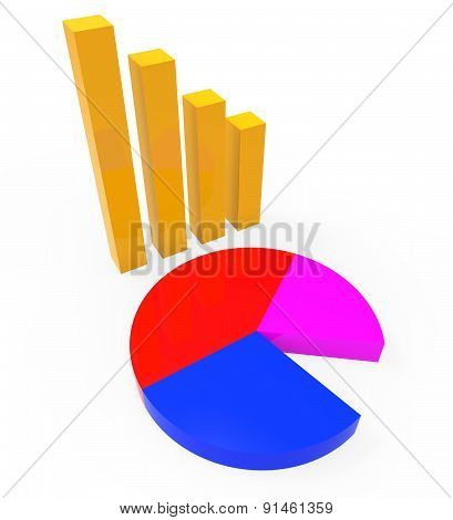 Graph Report Shows Graphs Charts And Infochart