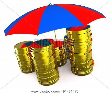 Protect Money Indicates Invest Restricted And Protecting