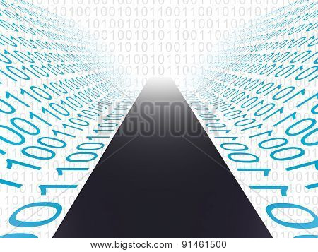 Digital Path Indicates High Tech And Computer