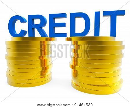 High Credit Indicates Debit Card And Banking