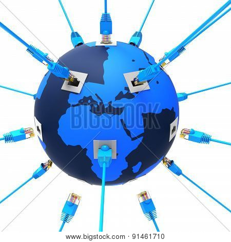 Worldwide Network Represents Web Site And Computing