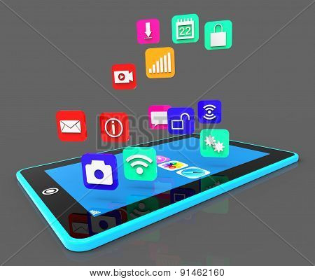 Social Media Phone Shows Application Software And Applications