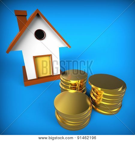 Real Estate Mortgage Shows Pre Payment And Building