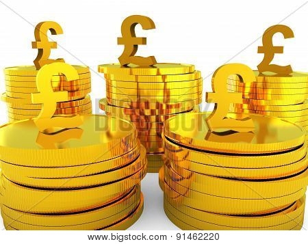 Pound Cash Represents Capital Pounds And Money